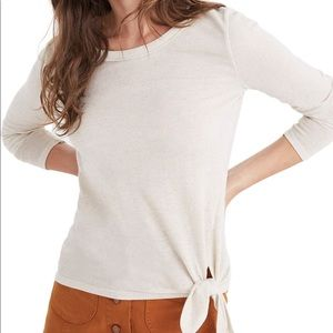 Madewell soundcheck side tie tee